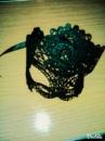 Маска ажурная карнавальная- черная плотная