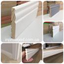 Високий білий дерев'яний плінтус Classic 10 см (16*100)