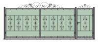 Кованые ворота и калитка модель (ВК-02)