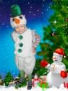 Снеговик - детский карнавальный костюм на прокат.