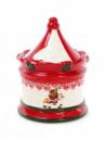 Банка для новогодних сладостей «Карусель» 450мл керамическая