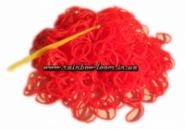 Красные резинки для плетения Rainbow loom