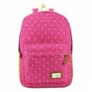 Женский рюкзак I Believe розовый в белый горох