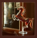 Оригинальный подарок - Лошадь из стекла ручной работы