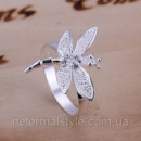 Tiffany кольцо «стрекоза» (покрытие серебро 925) .