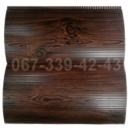 Купить металлосайдинг 067-339-42-43 под бревно, блок-хаус Темный Дуб (шир. 0,35 м)