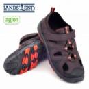 Сандалии с закрытым носком (летние туфли) для подростков темнокоричневые, бренд «Lands`End» (Америка)