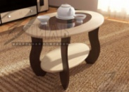 Журнальный стол №2 с овальным стеклом