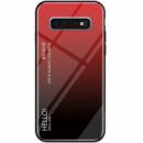 TPU+Glass чехол Gradient HELLO для Samsung Galaxy S10e Красный