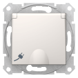 Розетка Sedna з заземленням та захисними шторками, з кришкою сл. кістка SDN3100123