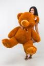 Плюшевый медведь Томми 150см Коричневый