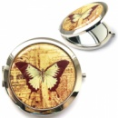 Карманное зеркало «Винтажная бабочка»