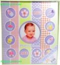 Фотоальбом Детский и для новорожденного с магнитными страницами, 20 магнитных листов 258x280мм