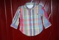 Рубашка на мальчика 9 мес. ( сомтрите замеры). Бренд: Ralph Lauren. ЦЕНА: 50 грн.