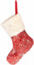 Носок для подарков «Сияющий красный» 43см с пайетками