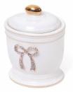 Емкость «Золотой Бант» 10.5х9х13см для гигиенических принадлежностей, фарфор