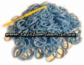 Голубые резинки для плетения Rainbow loom