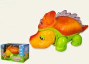 Динозавр ездит, подвижн. ноги/голова, звук, свет на батар.,