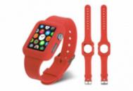 Ремешок-чехол Grand для смарт-часов Apple Watch 38 мм Sport Красный (AL835_38mm)