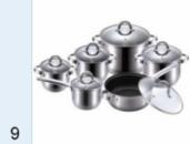 Набор посуды Вельберг (6,5/3,9/2,9/2,1/2,1) WB 02107