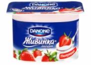 Йогурт Живинка Данон (Danone) клубника 1.5% 115г