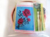 Набор для ковровой вышивки / 2 иглы / (роза)