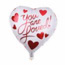 Фольгированный шар сердце You are loved