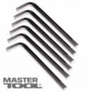 Ключ шестигранный CrV 2,5мм L20-59мм, 10шт MasterTool 75-0002