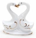 Фарфоровая декоративная статуэтка «Лебеди» 8.7см