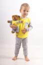 Комплект пижамка и мишка Lucky Friend 116 см Серо-желтый (LF013)