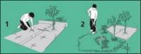 Геотекстиль для ограничения горизонтального роста корней