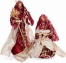 Рождественская игрушка «Вертеп» 2 фигуры 30см и 40см, красная