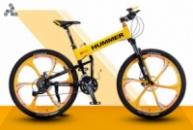 Элитный Велосипед HUMMER Yellow на литых дисках