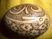 Яйцо деревянное декоративное