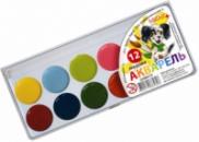 Акварельные краски 12 цветов Серия «Гавчик и Мурчик»