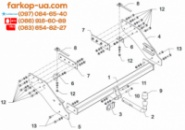 Тягово-сцепное устройство (фаркоп) Mitsubishi L200 Long (2009-2015)