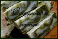 Мыло ручной работы. В составе- спирулина, коалин, куркума, отвар трав, масляные инфузы