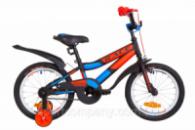 Велосипед 16« Formula RACE усилен. St с крылом Pl 2019 (черно-оранжевый с синим (м))