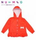 Кофта детская для девочек с капюшоном и начесом, бренд «Morrisons Nutmeg» (Англия)