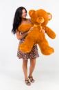 Плюшевый медведь Томми 100см Коричневый