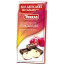 шоколад Torras чорний з яблуком