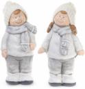 Декоративная керамическая фигурка «Серебряные дети» 41см