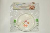 Набір посуду пластмасовий для малюків: тарілка, ложка