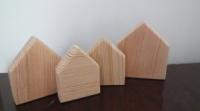Дерев'яні будиночки для пісочниці