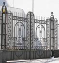Кованые ворота. Киев, ул. Софиевская, 9