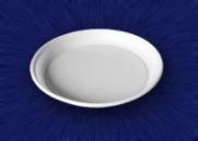 Тарелка 205 мм. 1-секц белая