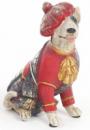 Декоративная фигурка «Собака шотландка в красном кафтане» 15см