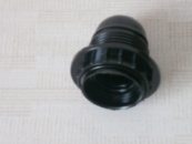 Патрон карболитовый с юбкой E27 чёрный