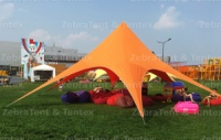Шатер Звезда Оранжевый. 10 м диаметр 4,8 высота. Теневой тент. 14900 грн
