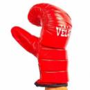 Снарядные перчатки кожаные VELO 4003-R(S-XL) красный